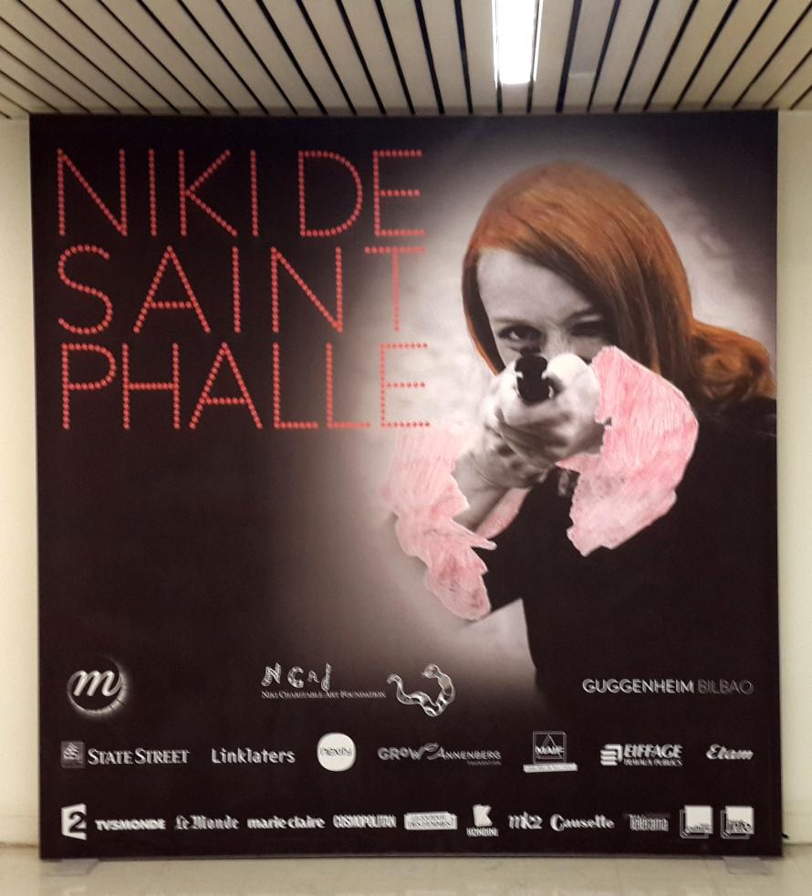 כרזה לתערוכה של ניקי דה סן-פאל בגראן פאלה בפאריס
